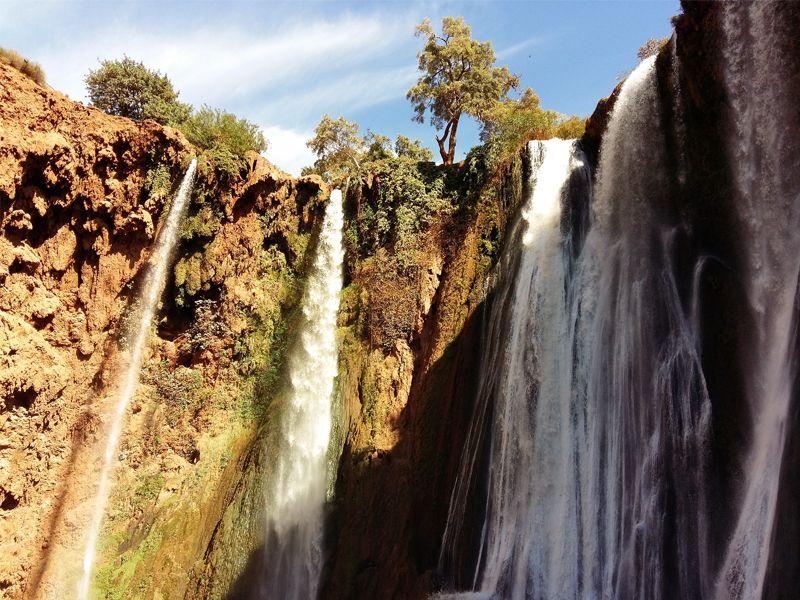 Cascades d'Ouzoud près de Marrakech au Maroc