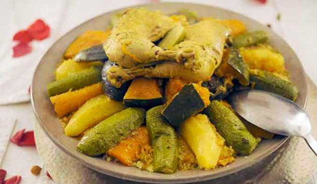 Couscous de poulet marocain à Marrakech
