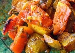 Cuisine marocaine à Marrakech avec des légumes