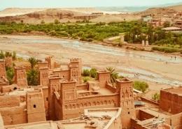 Photo de Ouarzazarte à proximité du désert de Marrakech au Maroc