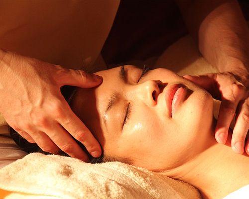 soin du visage et massage