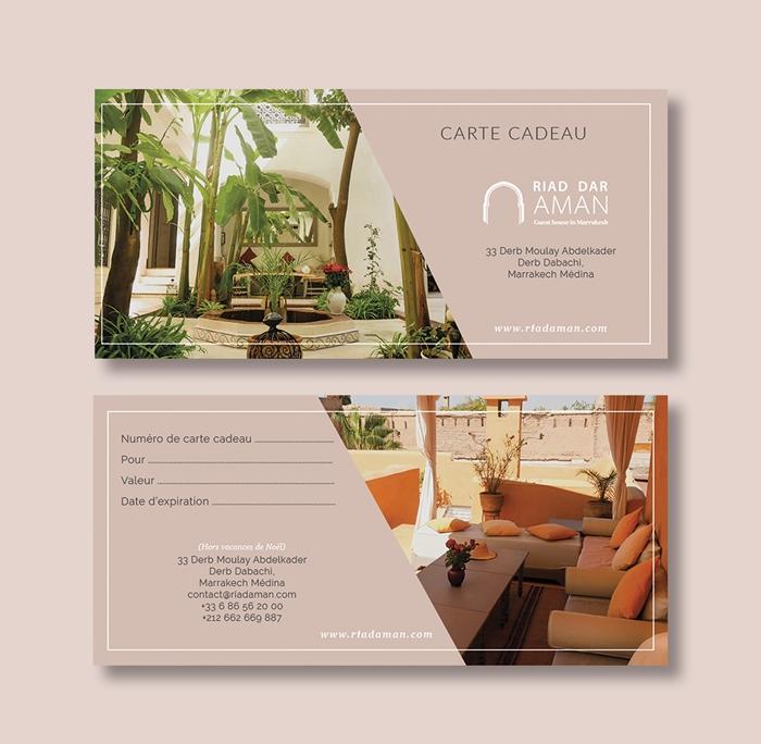 Carte cadeau pour séjourner au Riad Dar Aman, à Marrakech