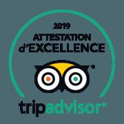 Certificat d'excellence TripAdvisor pour le Riad Dar Aman à Marrakech